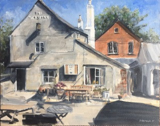 Lechlade oil painting